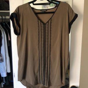 Express women's wear to work blouse